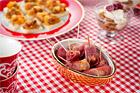 Grillade vattenkastanjer (plockmat) - recept
