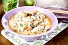 Asiatisk svamp- och kycklingsoppa - recept