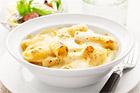 Gräddgratinerad rigatoni med fyra ostar - recept