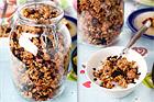 Granola - müsli med nötter och russin - recept