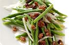 Haricots verts med vinägerrussin (tillbehör) - recept