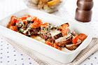 Bräserad fläskfilé med tomat och mozzarella - recept