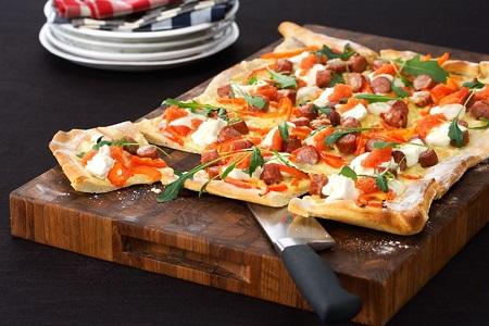 Pizza i långpanna