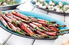 Parma och sparrispinnar (plockmat) - recept