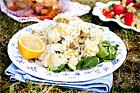 Fransk-svensk potatissallad med crème fraiche - recept