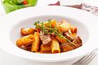 Rigatoni med lövbiff och oregano - recept