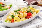 Kall tortellinisallad med mozzarella och melondressing - recept