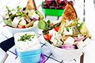 Sallad med feta och sparris - recept