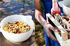 Sallad med balsampasta och chorizo - recept
