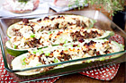 Färsfylld zucchini med keso - recept