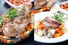 Lammstek provençale på rotfruktsbädd - recept