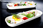 Inlagd fisk med ägg, rädisor och rostad tomat (tapas) - recept