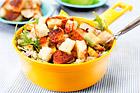 Bulgursallad med halloumi och mango - recept