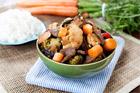 Wok med grönsaker och lövbiff i sojasås - recept