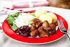 Hirsfärsbullar - recept