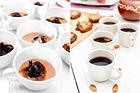 Chokladmousse med glöggkokt plommon - recept