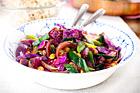 Julens vegetariska glöggade wok - recept