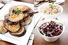 Griljerade auberginetournedos - recept