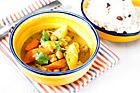 Kikärtscurry med rotsaker och russinbasmati - recept