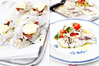Vitlöksbakad torsk med grönsaksröra - recept