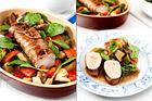Helstekt kotlettrad med bakade grönsaker - recept