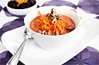 Röd linssoppa med råris, morot, apelsin & valnötter - recept