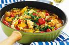 Kycklingfilégryta med tomat och vin - recept