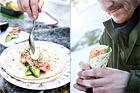 Wraps med lax, avokado och ägg - recept