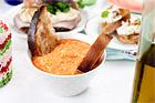 Paprika- och fetaoströra till smörgås - recept