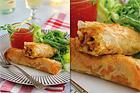 Knapriga vårrullar med kycklingfärs - recept
