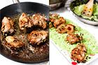 Örtfyllda kycklinglår med grönärtsrisotto - recept