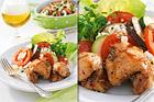 Kycklinglårfilé med krämig fetaost och ratatouillegratäng - recept