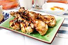 Kycklingdrumsticks med chutneyyoghurt - recept