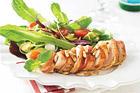 Kycklingbröstfilé med bacon & rosmarin och sallad - recept