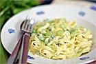 Gräddig Tagliatelle med gorgonzola - recept