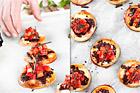 Chokladpizza med mascarpone och jordgubbar - recept