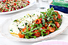 Rostad tomatsallad med marinerad mozzarella - recept
