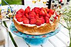 Marämgpaj med jordgubbar - recept