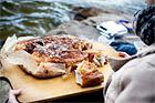 Focaccia med chorizo och ost - recept
