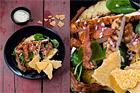 Grillad kycklingsallad med västerbottenflarn - recept
