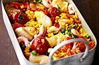 Paella på torsk och räkor - recept
