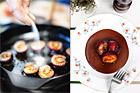 Rostade plommon med choklad - recept