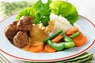 Kycklingbullar med currysås - recept