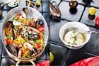 Paellarisotto med senapsaioli - recept