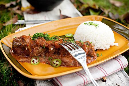 Currygryta på högrev med kokosmjölk