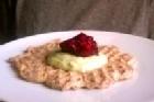 Bovetevåffla med grön grädde ¤ - recept