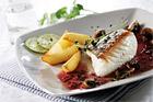 Stekt skrei (torsk) med rödvinssås - recept