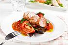 Fläskfilé med aubergine och tomatsalsa - recept
