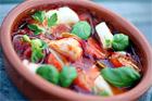 Tomat- och vitlöksbakad skreifilé (torskfilé) - recept