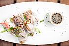 Rispappersrullar med surimi (crabsticks) - recept
